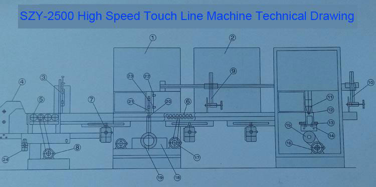 Touch Line Machine Technical Drawing